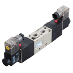 Electromagnetic valve, VLEV800 series, 5 ports, 3 positions