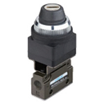 Hand-operated Valve VLM15 Series - Key Switch Type (Horizontal Piping/Standard Type)