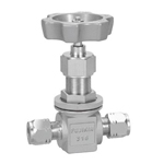 24.8-MPa Needle Stop Valve, Outer Panel Screw-Mounted, Super W Byte Type, Stainless Steel