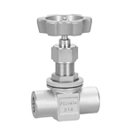 24.8-MPa Needle Stop Valve, Welded-Socket, Outer Panel Screwed Type, Stainless Steel