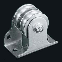 Flat-Mount Pulley Block, Double Wheel, 39 mm, Vertical and Horizontal Combined-type