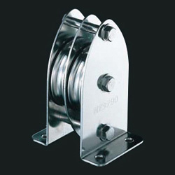 Fixed Pulley Block, Double Wheel, 90 mm, Vertical, Wide Type