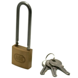 Stainless Steel Shackle Long W Lock Padlock, Different Chord Length Number