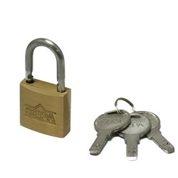 Dimpled Padlock, Designated Key Number