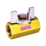 Brass Ball Valve, BBS Series, Butterfly Handle Type, Oil-Free Processing