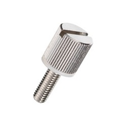 Brass Knurled Knob (Slotted / Built-In Washer) / NB-A-N