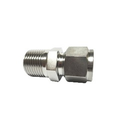 Double ferrule type tube fitting male connector DCT