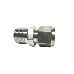 Double ferrule type tube fitting male connector MDCT