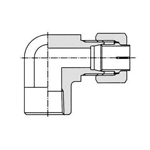 Biting Fitting for Anti-Vibration Fitting NE-Type Steel Pipe  Elbow (Female)