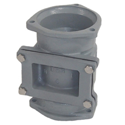 Flexible Fixing for Drainage Steel Pipe Socket for Full-water Test with Cleaning Spout (COS-T)