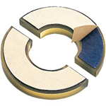 Urethane damper slit with separated double sided tape