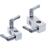Flexible Sensor Bracket, XY Joint/Wedge XY Joint: Aluminum, with Clamp Lever (for Round Shafts/Square Shafts)