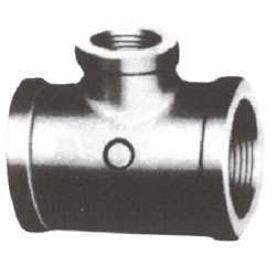 Screw-In PL Fitting, Reducing Tee with Collar (Small Branch Diameter)