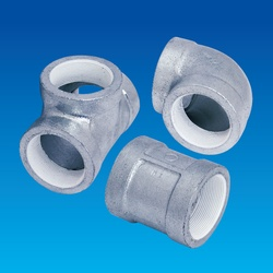 Screw Sealing Agent-Coated Screw Type Malleable Cast Iron Pipe Fitting, PS20K Continuous Feeding Piping Fitting, 45° Elbow