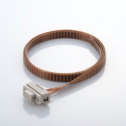 Connecting components for multi-pin D-Sub vacuum side PEEK® insulation insert KAPTON@ cable with socket contact