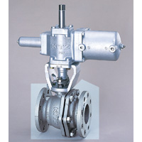 Stainless steel 10K ball valve with pneumatic actuator