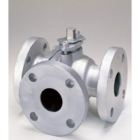 Cast Iron Steel General-Purpose 10K Ball Valve (Three-way) Flange