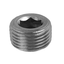 Steel Tapered Screw Plug With Hex Socket (Sunken)