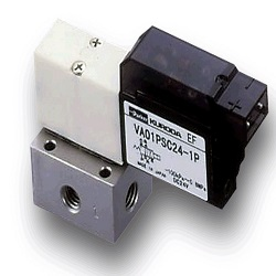 Small 4-port two-position direct-acting solenoid valve VA01/PSC24
