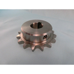 Stainless steel sprocket type 50B semi F Series, shaft bore machined (new JIS key)
