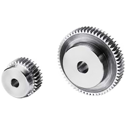 Polished flat gear, m2, S45C type