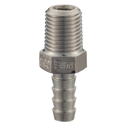 Stainless Steel - Screw-in Tube Fitting - Hexagonal Hose Nipple [SHN]