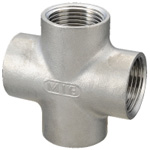 Stainless Steel Screw-In Pipe Fittings, Cross [X]