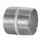 Stainless Steel Screw-In Pipe Fittings, Dual Nipples [N]