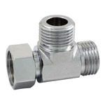 Auxiliary Material for Piping, Fitting, and Plumbing, Plated Fittings - One Side Nut Tees -, M149GMSK
