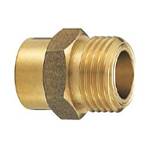 Copper Tube Fitting, Copper Tube Fitting for Hot Water Supply, Copper Tube External Screw Adapter for Flexible Tubes