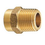Copper Tube Fitting, Copper Tube Fitting for Hot Water Supply, Copper Tube External Threaded Socket (Bronze Rod)