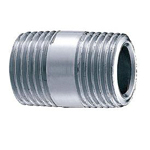 Auxiliary Material for Piping, Fitting, and Plumbing, Fitting for Water Supply Piping, Plated Fittings - Round Nipples