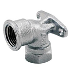 Auxiliary Material for Piping, Fitting, and Plumbing, Fitting for Water Supply Piping, Water Faucet Elbow with Inner Screw Mounting Tab - MK87C