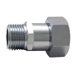 Auxiliary Material for Piping, Fitting, and Plumbing, Fitting for Water Supply Piping, Plated Fittings - Nipple with Cap Nuts for Flexible Pipes