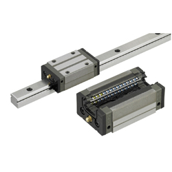 Linear Guides for Heavy Load - With Plastic Retainers, Interchangeable, Light Preload