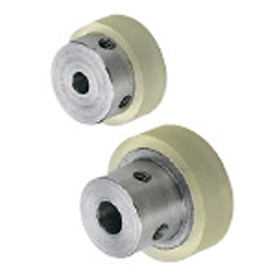 Urethane Rollers - with Collars - Set Screw Hole