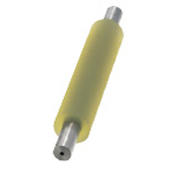 Urethane Rollers with Shafts - Straight