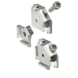 For 8 Series (Slot Width 10mm) Aluminum Extrusions - Post-Assembly Insertion Easy Brackets