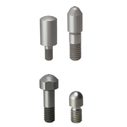 Locating Pins - Tip Shape Selectable (Tip Length Configurable-Threaded)