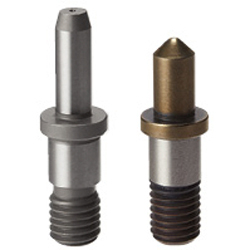 Locating Pins for Fixtures - Tip Shape Selectable, Precision Grade, Shouldered - Threaded