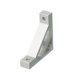 Extruded Brackets - For 1 Slot - For 6 Series (Slot Width 8mm) Aluminum Extrusions - Ultra Thick Brackets (Perpendicularly Machined)