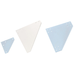 Sheet Metal Bracket For 6 Series (Slot Width 8mm) Aluminum Extrusions - Triangle-Shaped