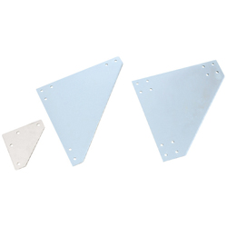 Sheet Metal Bracket For 8 Series (Slot Width 10mm) Aluminum Extrusions - Triangle-Shaped