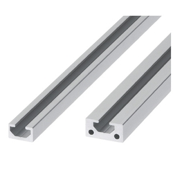 Non-Flanged Flat Aluminum Extrusions / Extrusion End Caps - Common to Bar Nuts and Pre-Assembly Insertion Nuts - 1-Side Slot Type (8mm)