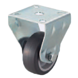 Casters - Light Load- Wheel Material: TPE - Fixed Type