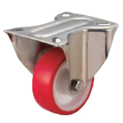 Casters - Medium Load - Wheel Material: Urethane - Fixed Type