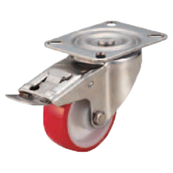Casters - Medium Load - Wheel Material: Urethane - Swivel Type + Stopper