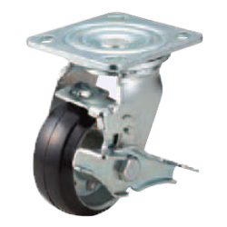 Casters - Heavy Load - Wheel Material: Rubber - Swivel Type + Stopper
