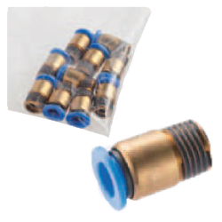 One-Touch Couplings - Male Thread Fittings (Round)