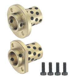 Flange Integrated Oil Free Bushings - Copper Alloy, Pilot Flanged